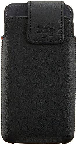 BlackBerry OEM Genuine Leather With Swivel Holster Clip Case For BlackBerry DTEK50 - Black