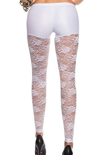 Neue Damen weiß metallic Shorts befestigt Lace Leggings Fancy Kleid Freizeitkleidung Leggings Größe passend für S 8EU 36