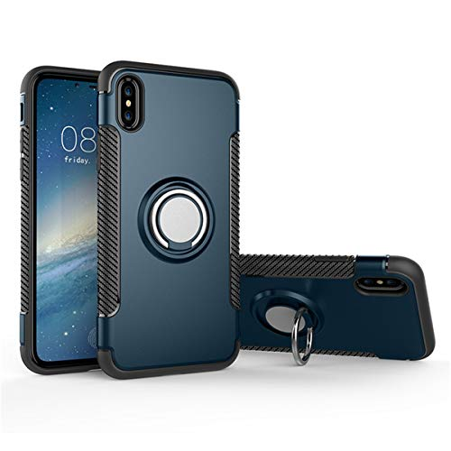 iPhone X Case, iPhone X Case with 360 Rotating Ring Grip Holder Stand Shockproof Cover Protective hard Case for Apple iPhone X 5.8