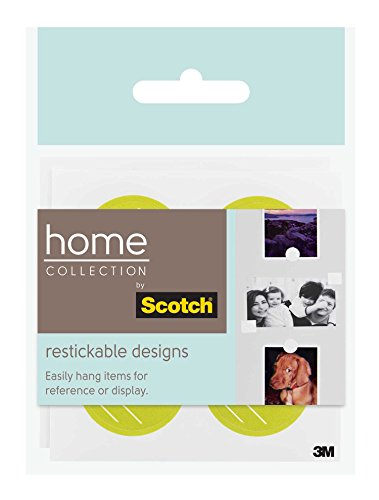 Scotch Restickable Circles, Chartreuse with Slash Pattern, 4 Shapes/Sheet, 2 Sheets per Pack (R106-HC-CIRCH)