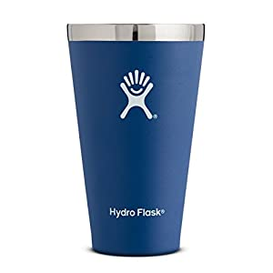 Hydro Flask 16 oz Stackable Double Wall Vacuum Insulated Stainless Steel True Pint Camping Cup, Cobalt (No Lid)