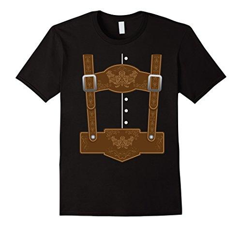 Oktoberfest Ideas (Mens Oktoberfest Lederhosen T-Shirt - Funny German Bavarian Shirt 3XL Black)