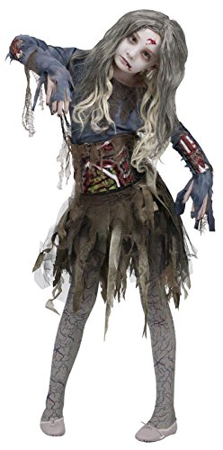 [Zombie Girls Halloween Costume, Medium (8-10)] (Un Costume For Girls)