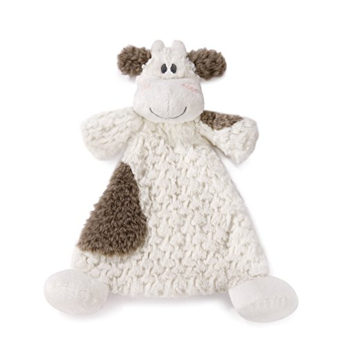 Moozer Cow Brown Spotted Children's Plush Rattle Blankie ()