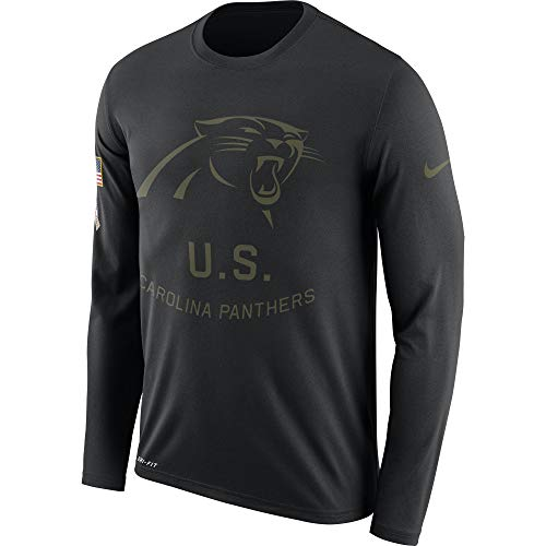 - Nike Men's Carolina Panthers Legend Long Sleeve STS Tee Black Size Small