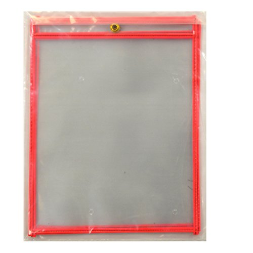 Ticket 11 Holders (C-Line Stitched Shop Ticket Holders, Both Sides Clear, 8-1/2