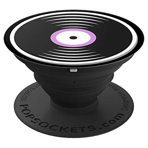 Cute Retro Vinyl Record Art for Music Lovers PACJ0152 - PopSockets Grip and Stand for Phones and Tablets