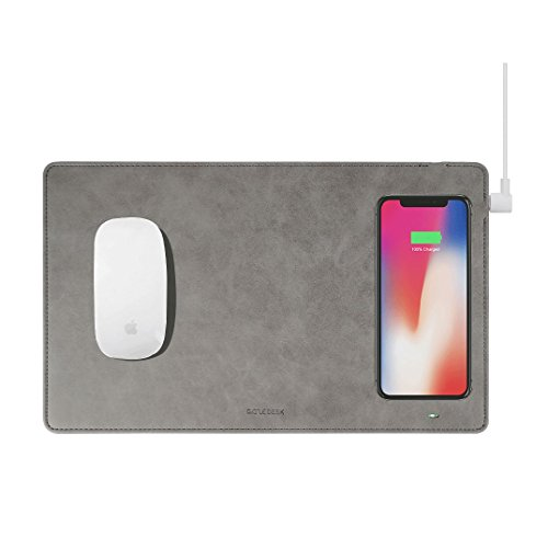 GAZEPAD Qi Wireless Fast Charging Mouse Pad Mat for iPhone X iPhone 8 Galaxy S8 S9 Plus Samsung Note 8 9