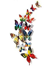 Set 24pcs 3D Pink Series Butterfly Wall Stickers Decoration