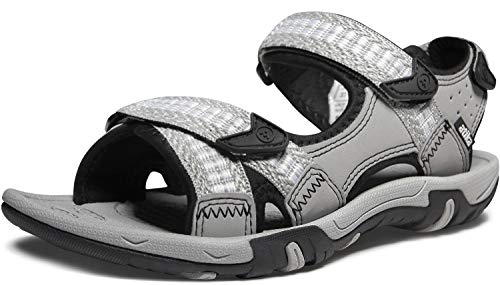 ATIKA Women's Maya Trail Outdoor Water Shoes Sport Sandals, Havana(w213) - Light Grey, 6