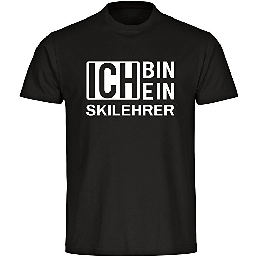 T-Shirt Ich bin ein Skilehrer schwarz Herren Gr. S bis 5XL