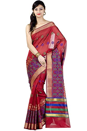 Chandrakala-Womens-Red-Banarasi-Art-Silk-Saree