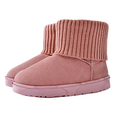 amp;xuezi Winter Heel Grey Yellow Flat Flat Women's Fabric Casual Boots Comfort Gray Blushing Pink Gll Black d8xawpqXd