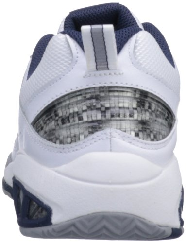 New Balance, Scarpe da corsa uomo, (White with Navy), 42