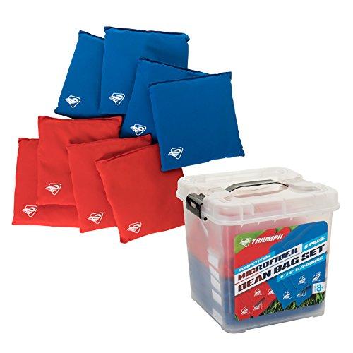 Triumph Competition Microfiber 12.5 oz. Bean Bag Set – 8-Pack by Triumph Sports