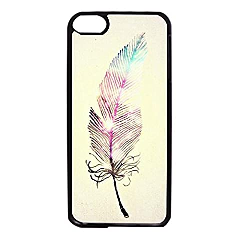 Ipod Touch 6th Generation Aegis Phone Case Agile Novel Mobile Covers Snap on Ipod Touch 6th Generation Pale Yellow Color Shading Feathers Pattern Cellphone (Waterproof Ipod 4 Case Yellow)