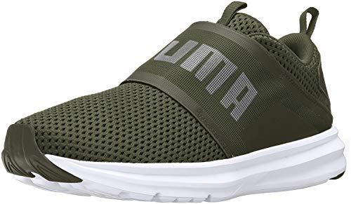 PUMA Men's Enzo Strap Mesh Sneaker, Forest Night White, 9.5 M US (Mesh Puma Shoes)