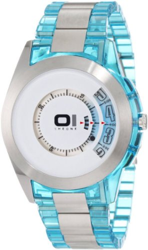 01TheOne Men's AN08G02 Spinning Wheel Classic Analog with Enamel Bezel Watch