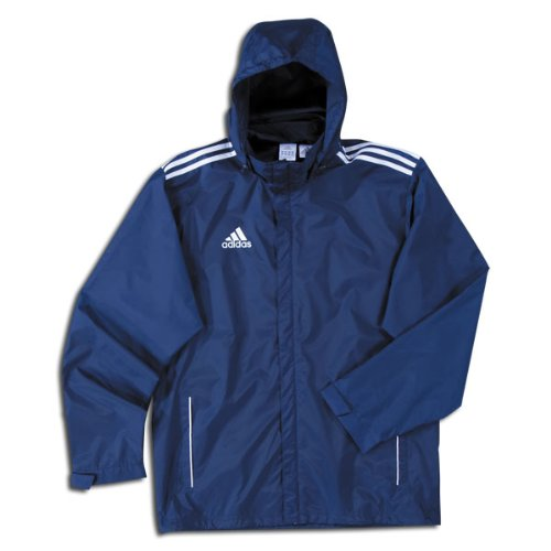 Adidas core11 Rain Jkt B004GO9KE8NEWNAVY,WHITE Large