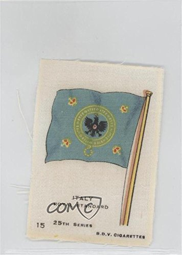 Italy Royal Standard COMC REVIEWED Good to VG-EX (Trading Card) 1917 B.D.V. Flags of the World Silks 25th Series -...