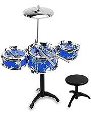 Batería Jazz De Simulación Infantil, Instrumento De Percusión Set, Kit De Batería Infantil,Juguete De Desarrollo Intelectual Para Niños, Niños Y Niñas