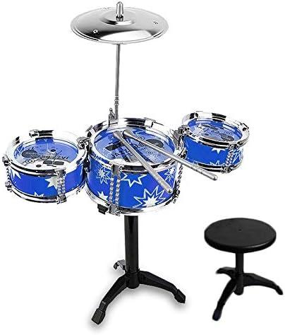 TOPmountain Juego de batería Kids Jazz - Little Rockstar Kit para estimular la Creatividad de los niños, Juguete de Regalo Ideal para niños, Adolescentes, niños y niñas