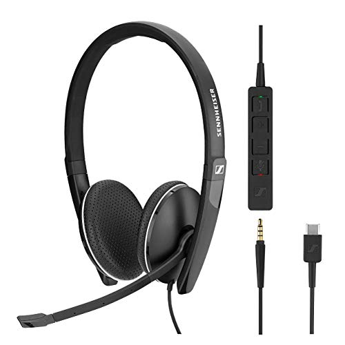(Sennheiser SC 165 USB-C (508356) - Double-Sided (Binaural) Headset for Business Professionals | with HD Stereo Sound, Noise-Cancelling Microphone, USB-C Connector (Black))