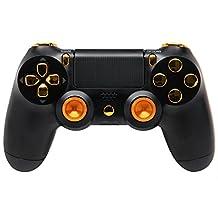 """Black Gold Aluminum"" Ps4 Rapid Fire Custom Modded Controller 35 Mods COD Advanced Warfare, Destiny, Ghosts Quick Scope Auto Run Sniper Breath and More"