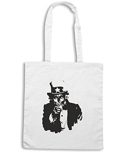 T-Shirtshock - Bolsa para la compra FUN0012 01 13 2013 Uncle Corpse T SHIRT det Blanco