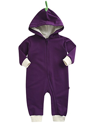 Vaenait Baby 0-24 Months Boys Girls Hooded Jumpsuit Rompers Basket