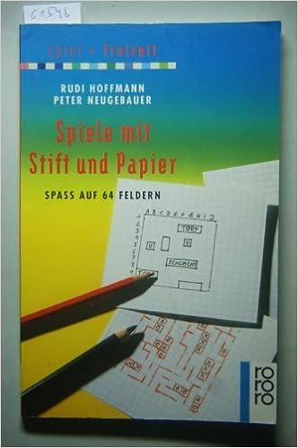 Spiele Mit Stift Und Papier Amazon De Rudi Hoffmann Peter