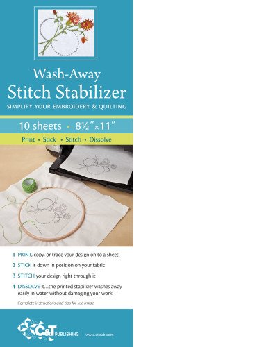 Wash Away Stitch Stabilizer: Simplify Your Embroidery & Quilting: Print, Stick, Stitch & - Outlets Premium Ct