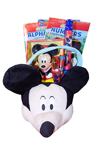 Disney Mickey Mouse Deluxe Plush Learning is Fun Gift Basket - Perfect for Easter, Christmas, Birthdays, Get Well, or Other Occasion!