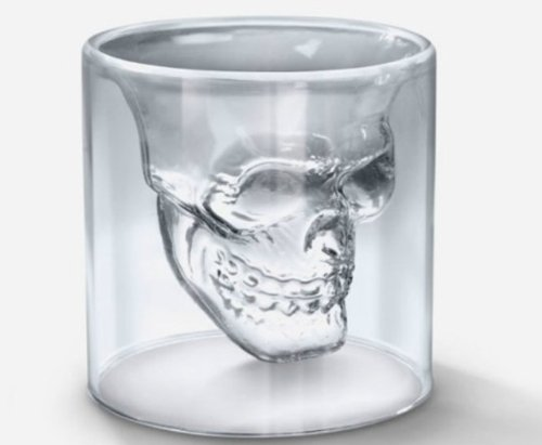 Doom Crystal Skull Head Vodka Shot Glass Drinking Ware for Home Office Bar