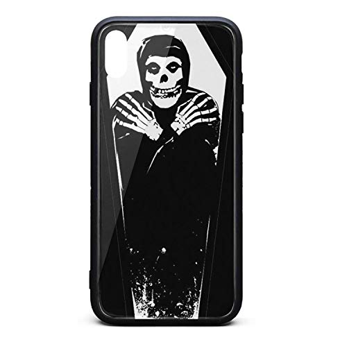 - iPhone Xs Max Case Misfits-Crimson-Ghost-Coffin- Slim Anti-Finger TPU Soft Rubber Cover Phone Case for iPhone Xs Max Case [6.5 inch]