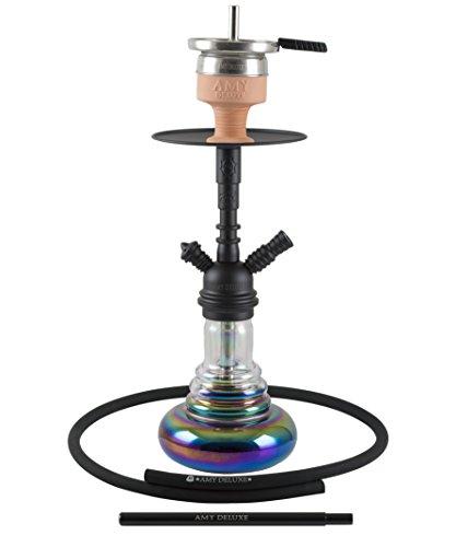 Amy Shisha Baby Cloud Rainbow – black – RS Black Powder | Wasserpfeife Hookah shiny mit Klick- und Kammersystem