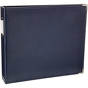 We R Memory Keepers Classic Leather 3-Ring Album - 12x12 inch, Navy