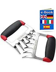 Premiala Best 3-in-1 Meat Shredder Claws - Australia's Own! For Shredding, Handling, & Carving Pulled Pork, Chicken & Beef. Pure Stainless Steel with Premium Soft-Touch Handles - Guaranteed Food Safety and Comfort! AU SELLER + STOCK!