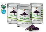 Digestion Supplement Powder - Organic ACAI Juice Powder - Pure acai Powder - 3 Cans 24 OZ (195 Servings)