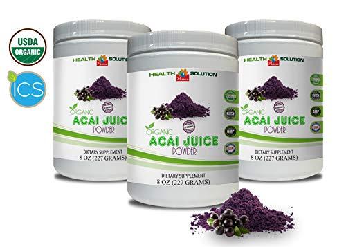 Organic antioxidant Powder - Organic ACAI Juice Powder - Pure acai Natural - 3 Cans 24 OZ (195 Servings) by Health Solution Prime (Image #7)