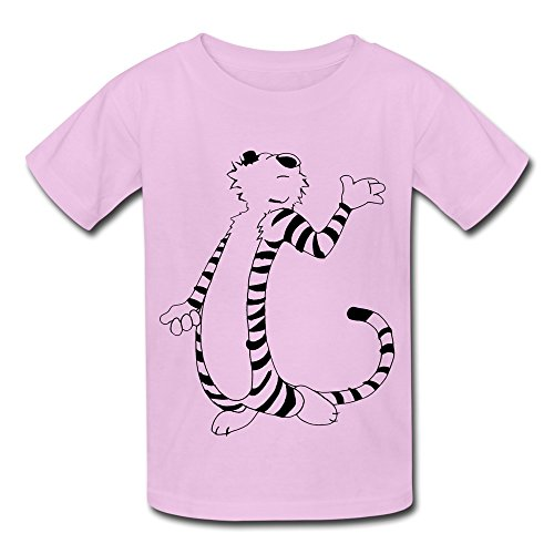 Kids Boys Girls T Shirt Thomas Calvin And Hobbes Tiger Funny Gesture Pink Size M