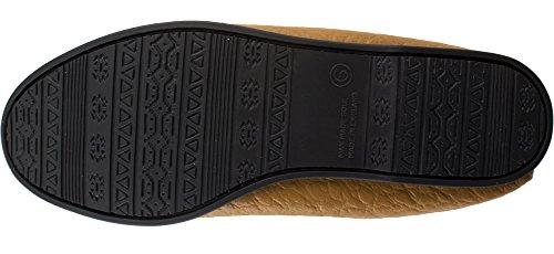 Suola Foderato Mocassino Pvc Lambland Con Pelle Pantofola Abbronzatura In Uomo 48qwnxE
