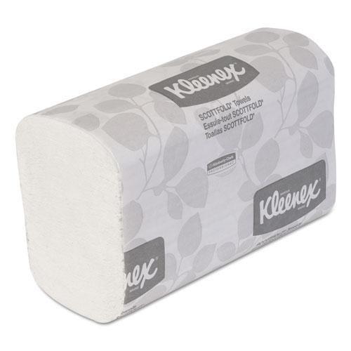 Scottfold Hand Towels (Kleenex 13253 SCOTTFOLD Paper Towels, 7 4/5 x 12 2/5, White, 120/Pack, 25 Packs/Carton)