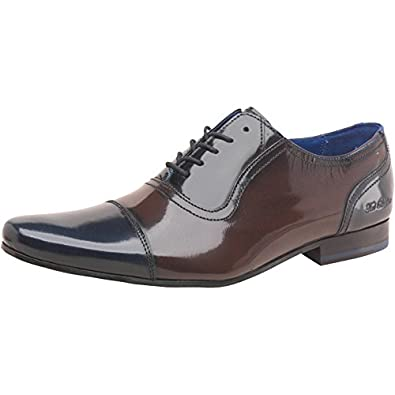 e3d0717f33fa Mens Ted Baker Mens Rogmix Formal Shoes Dark Blue Brown - Navy Brown ...