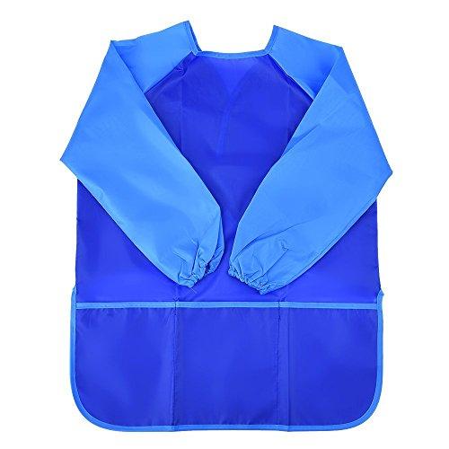 Mudder Langarm Malschürze Wasserdichte Malerei Schürze (Blau)
