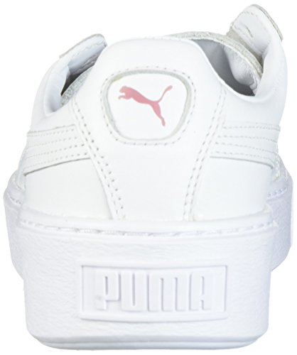Piattaforma da basket femminile Metallic, Puma White-Lilac Snow, 8.5 M US