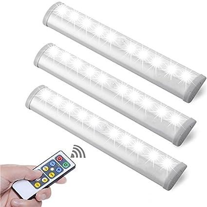 MASUNN Blanco/Blanco Cálido 10 Led Sensor De Movimiento De Luz De Batería De Control