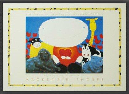 ポスター マッケンジー ソープ Celebration 額装品 ウッドベーシックフレーム(ブラック) B00LCUFBB0 ブラック ブラック