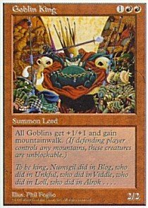 Magic: the Gathering - Goblin King - Fifth Edition (King Magic The Goblin Gathering)