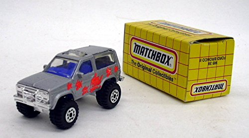 Matchbox MB 39 Ford Bronco II silver with orange fish 1987 China MIB ()